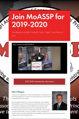 Join MoASSP for 2019-2020