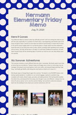 Hermann Elementary Monday Memo