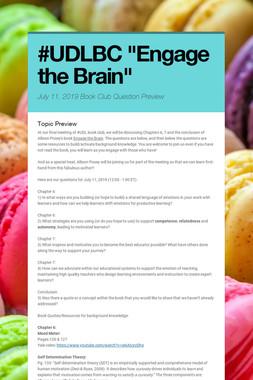 "#UDLBC  ""Engage the Brain"""