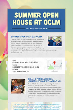 Summer Open House at OCLM