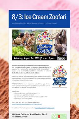 8/3: Ice Cream Zoofari