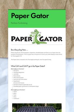 Paper Gator