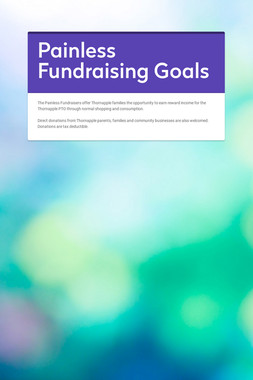 Painless Fundraising Goals