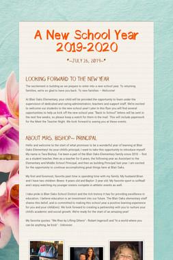 A New School Year 2019-2020