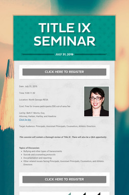 Title IX Seminar