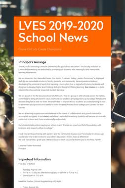 LVES 2019-2020 School News