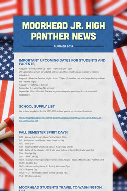 Moorhead Jr. High    Panther News