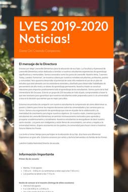 LVES 2019-2020 Noticias!