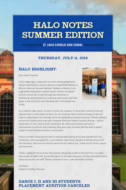 Halo Notes Summer Edition