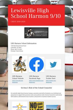 Lewisville High School Harmon 9/10