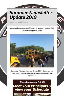 Summer Newsletter Update 2019