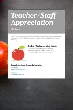 Teacher/Staff Appreciation