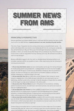 Summer News from AMS