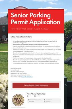 Senior Parking Permit Application