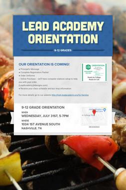 LEAD Academy Orientation