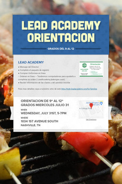 LEAD Academy Orientacion