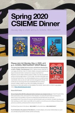 Spring 2020 CSIEME Dinner