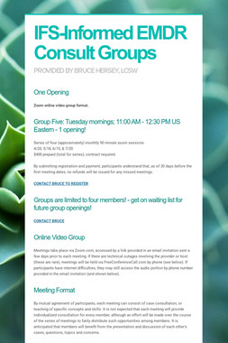 IFS-Informed EMDR Consult Groups