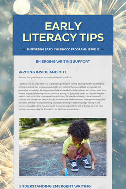 Early Literacy Tips