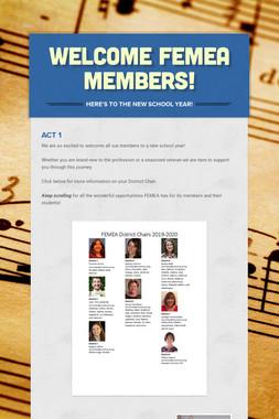 Welcome FEMEA Members!