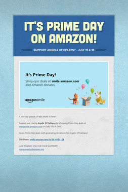 It's Prime Day On Amazon!
