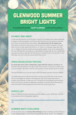 Glenwood Summer Bright Lights