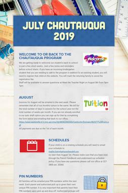 July Chautauqua 2019
