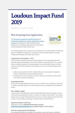 Loudoun Impact Fund 2019