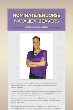 Nominate/Endorse Natalie Y. Beavers
