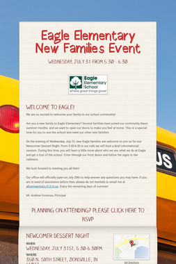 Eagle Elementary New Families Event