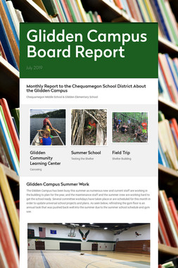 Glidden Campus Board Report