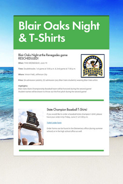 Blair Oaks Night & T-Shirts
