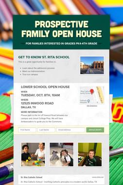 Prospective Family Open House