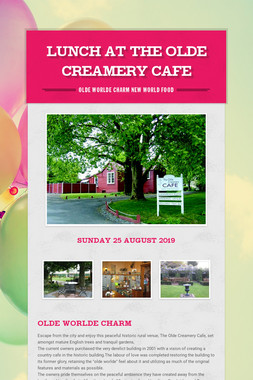 Lunch at The Olde Creamery Cafe