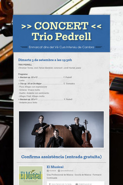 >> CONCERT << Trio Pedrell