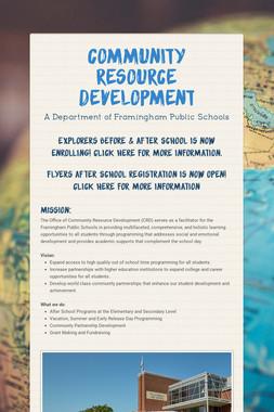 Community Resource Development
