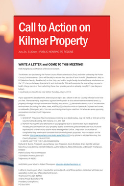 Call to Action on Kilmer Property