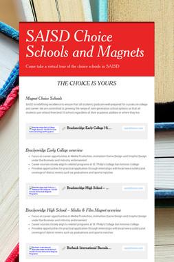 SAISD Choice Schools and Magnets