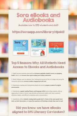 Sora eBooks and Audiobooks