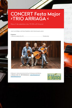 >> CONCERT <<  Trio Arriaga