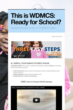 This is WDMCS: Ready for School?