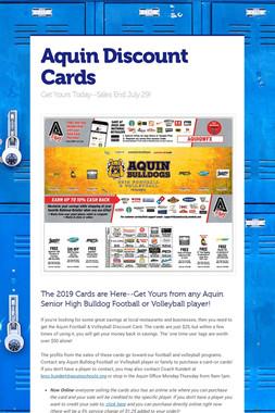 Aquin Discount Cards