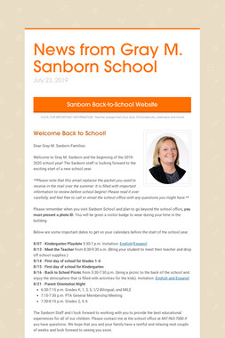 News from Gray M. Sanborn School