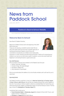 News from Paddock School