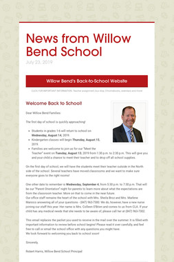 News from Willow Bend School