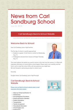 News from Carl Sandburg School
