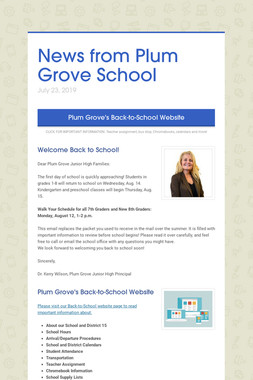 News from Plum Grove School