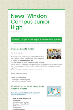 News: Winston Campus Junior High