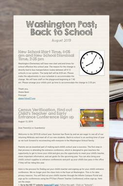 Washington Post; Back to School