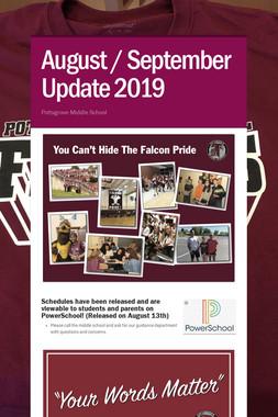 August / September Update 2019